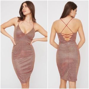 Dresses & Skirts - Rose pink shimmer dress - Medium (with tags)